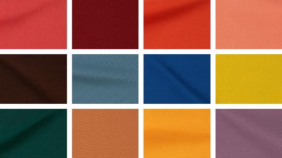 Un collage con los colores de temporada según el Pantone Fashion Color Trend Report